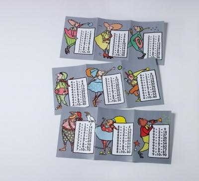 Tablas de multiplicar y abecedarios